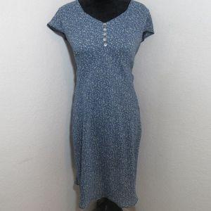alyn Paige blue floral v neck dress size 5/6